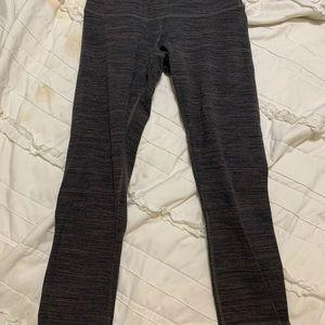 Lululemon black and brown striped leggings